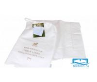 Скатерть в тканевом мешочке'EMY', р-р: 140x140см, цвет: белый