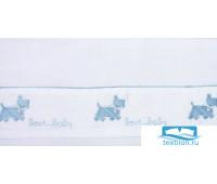 Чехол для бампера 'СОБАЧКИ NEW', р-р: 45x390см, цвет: белый/голубой