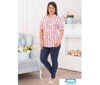Челси(полоса) блуза р.56, 100% хлопок