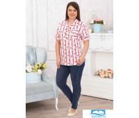 Челси(полоса) блуза р.64, 100% хлопок