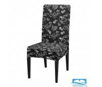 ЧХТР080-18212 Чехол на стул, универсальный, софттач, 40 см.