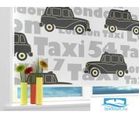 Рулонная штора 'Лондонское такси' Ширина: 130 см. Высота: 190 см. управление справа