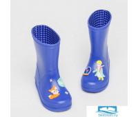 DD-DH-003/2 Резиновые сапоги детские «Сказка» синие 29