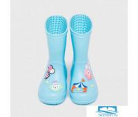 DD-DH-004/1 Резиновые сапоги детские «Цирк» голубые 23