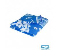 Синее Дельфины 57-8ЕТЖ 100х140 100% х/б Байковое жак Ермолино
