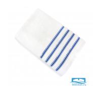 Эдем 90*145 белое синяя полоса полотенце Микрокоттон