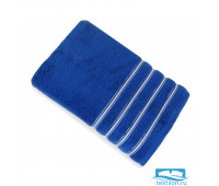 Эдем 70*140 синее полотенце Микрокоттон