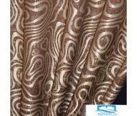 В512   (ширина 2 м) блэкаут-жаккард ш 200 * в 270  / 2шт. В512-3   коричневый