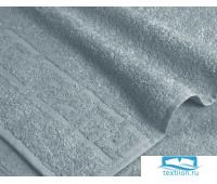 Серое махровое полотенце (А)  40х70