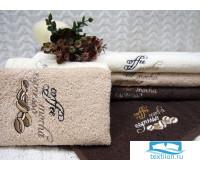 ЭСПРЕССО 30*50 бежевое полотенце хлопок 100% 420 гр/кв.м