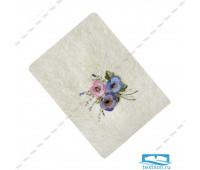 ЭСТЕЛЬ-1 70*140 цветок 3Д молочное полотенце махровое