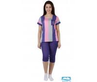 Костюм женский 'Калифорния' (футболка), 1396-К 58, розовый
