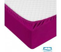 Фиолетовая трикотажная простыня 180х200х20