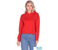 Худи женское с капюшоном  №1741, цв.красный,р-р:L