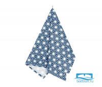 Пр-Абсин-45-60 Полотенце «Абстракция синяя» рогожка наб. 45х60
