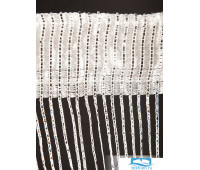 HDSC0035 белый люрикс Плоское плетение 280X140