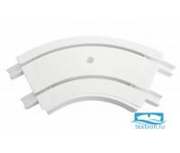 Уголок внутренний для шины потолочной 2-х рядной 120 градусов, пластик, белый, 21202