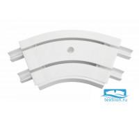 Уголок внутренний для шины потолочной 2-х рядной 135 градусов, пластик, белый, 21352