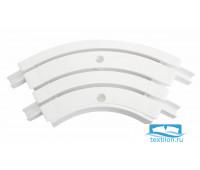 Уголок внутренний для шины потолочной 3-х рядной 120 градусов,  пластик, белый, 21203