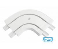 Уголок наужный для шины потолочной 3-х рядной 90 градусов, пластик, белый, 20630