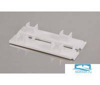 Торцевая заглушка для шины потолочной 2-х рядной, пластик, белый, 20022