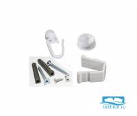 Монтажный комплект для однорядной шины 1,6м, пластик, 10022160