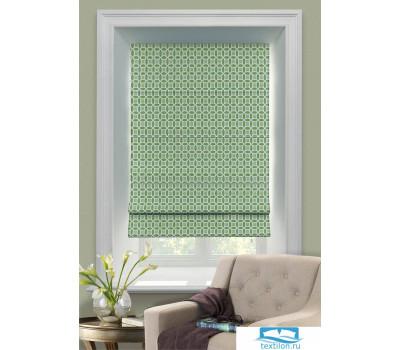 Римская тканевая штора, Линза, зеленый, 100х160, арт. 1041100