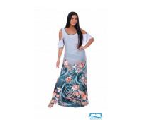 1181 Ницца платье женское 52, изумруд