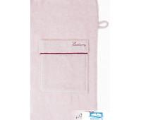 Халат 'Basic', р-р: XL, цвет: розовая пудра/бордовый