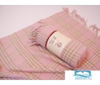 Плед детский 'LUX 1', р-р: 100х150см, цвет: розовый/экрю/бежевый