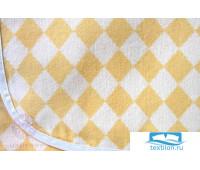 Плед детский 'LUX 3313', р-р:75х100см, цвет: желтый