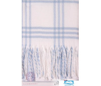 Плед детский 'LUX 519', р-р:100х150см, бахрома, цвет: голубой/белый