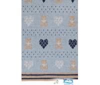 Плед детский 'Lux Bear', р-р: 100х150см, цвет: голубой/синий/бежевый