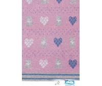 Плед детский 'Lux Bear', р-р: 100х150см, цвет: розовый/голубой/серый