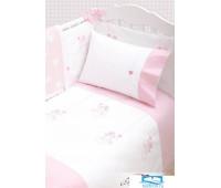 Чехол для бампера 'ANGELS', р-р: 45x195см, цвет: белый/розовый