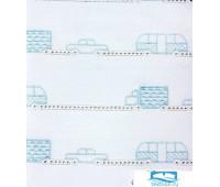 Бампер 'МАШИНКИ', р-р: 45x390см, цвет: белый/голубой