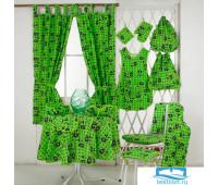 Набор J.C.SILVA: шторы+полотенце+скатерть 150х150 арт.Mostarda green