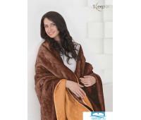 Набор Multi Set Одеяло-покрывало 'Multi Blanket' Sleep iX 240x220 Ткань: Оранжевый, Мех: Коричневый + простыня 230x240 и две наволочки 50х70