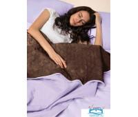 Набор Multi Set Одеяло-покрывало 'Multi Blanket' Sleep iX 240x220 Ткань: Фиолетовый, Мех: Коричневый + простыня 230x240 и две наволочки 50х70