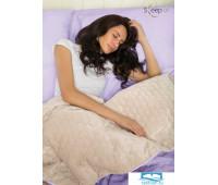 Набор Multi Set Одеяло-покрывало 'Multi Blanket' Sleep iX 240x220 Ткань: Фиолетовый, Мех: Молочно-Серый + простыня 230x240 и две наволочки 50х70