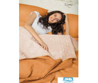 Набор Multi Set Одеяло-покрывало 'Multi Blanket' Sleep iX 240x220 Ткань: Оранжевый, Мех: Молочно-Розовый + простыня 230x240 и две наволочки 50х70