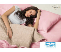 Набор Multi Set Одеяло-покрывало 'Multi Blanket' Sleep iX 240x220 Ткань: Розовый, Мех: Молочно-Серый + простыня 230x240 и две наволочки 50х70