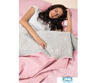 Набор Multi Set Одеяло-покрывало 'Multi Blanket' Sleep iX 240x220 Ткань: Розовый, Мех: Серый + простыня 230x240 и две наволочки 50х70