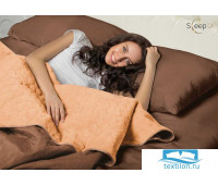 Набор Multi Set Одеяло-покрывало 'Multi Blanket' Sleep iX 240x220 Ткань: Коричневый, Мех: Рыжий + простыня 230x240 и две наволочки 50х70