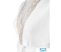 Олимпия халат махровый, бел/экрю, XL(50), 1пр, 100% чес хл