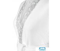 Олимпия халат махровый, бел/сер, XL(50), 1пр, 100% чес хл