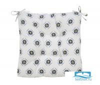 Декоративная подушка (сидушка) толстушка «Орнамент 1» рогожка