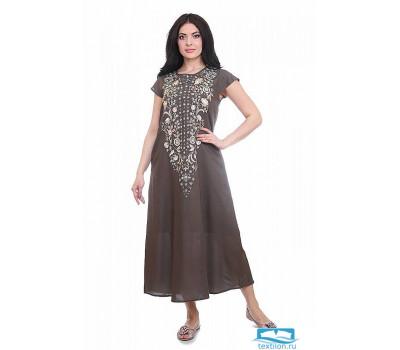 Платье (вискоза) с вышивкой №19-195-1 3XL(56)