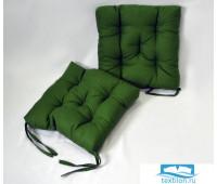 Набор подушек для стула цв. темно-зеленый, 35*35см 2шт, бязь