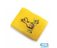 ПРИМА 40*60 желтое полотенце хлопок 100% 420 гр/кв.м